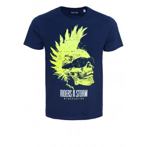 Riders Skull Navy Shirt
